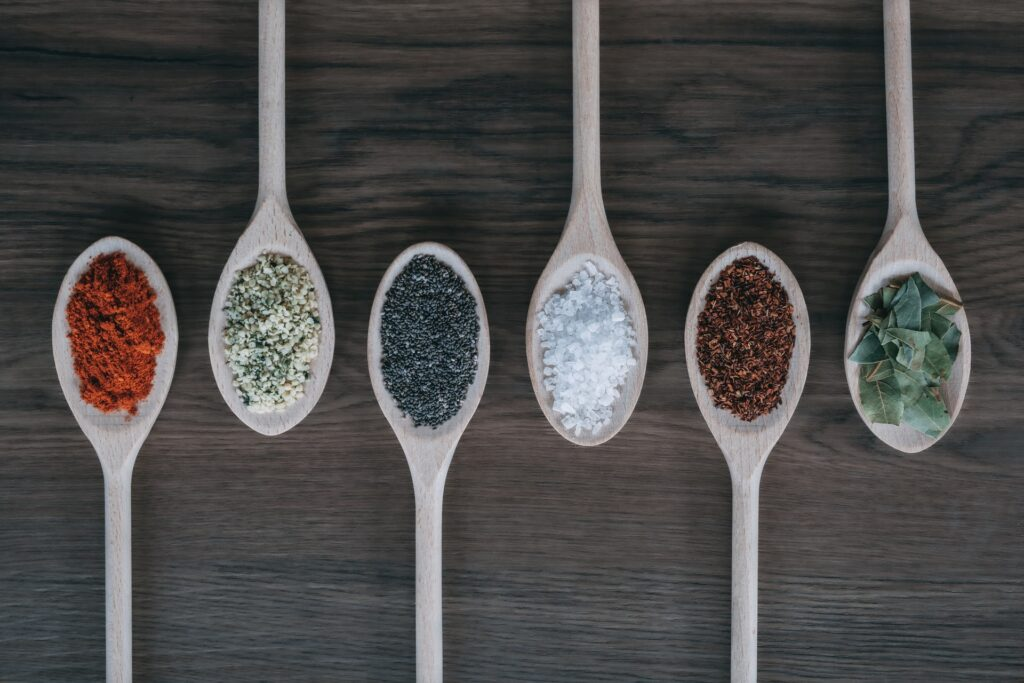 six-spoons-with-different-spices